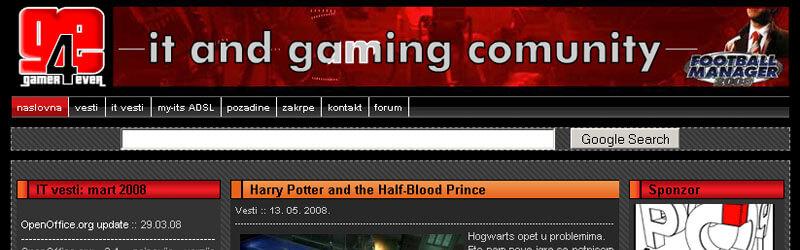 Gamer4Ever logo and web design