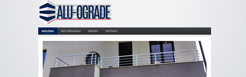 ALU-OGRADE logo and web design