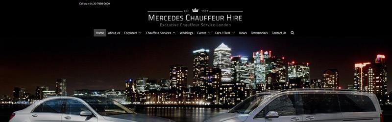 Mercedes Chauffeur Hire web design