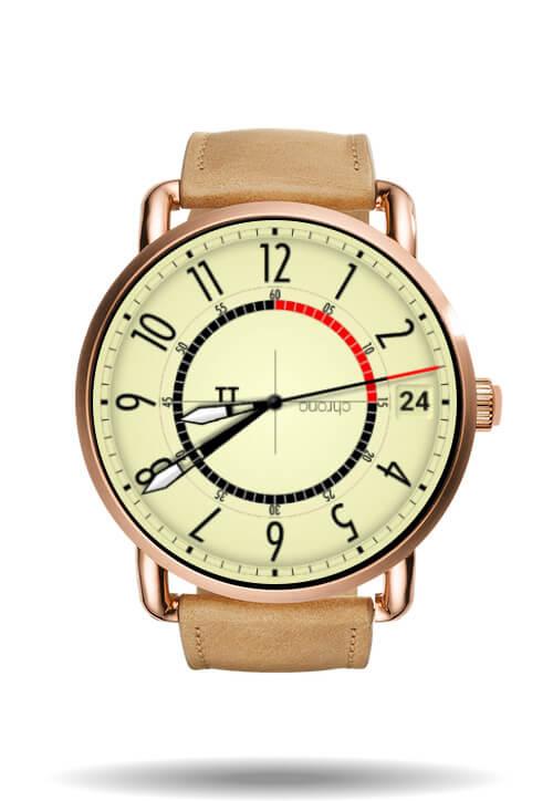 TT chrono watch face